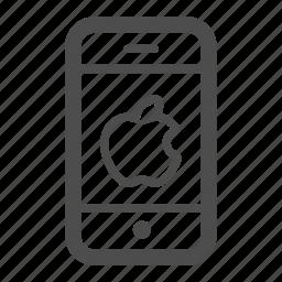 apple, iphone, mobile, phone icon