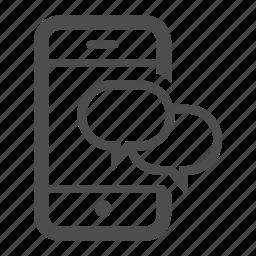 bubble, bubbles, communication, conversation, iphone, message, talk icon
