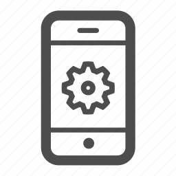 call, cog, iphone, mobile, phone, settings icon