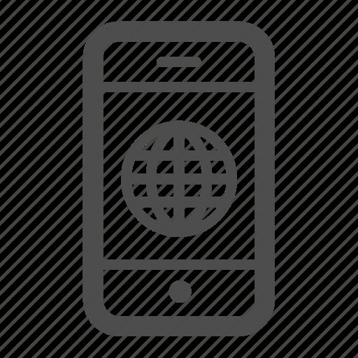 earth, globe, international, iphone, mobile, phone, world icon