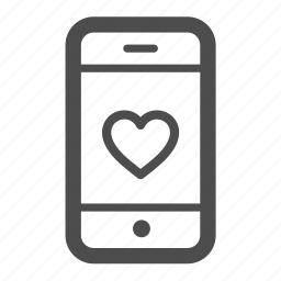 bookmark, favorite, heart, iphone, like, love, mobile icon