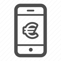 cash, currency, euro, finance, iphone, mobile, money icon