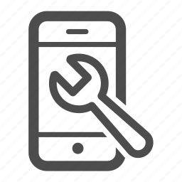 iphone, mobile, repair, reparations, wrench icon