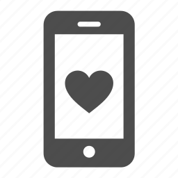 favorite, heart, iphone, like, love, mobile, phone icon