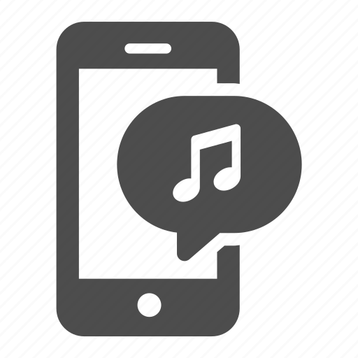 bubble, iphone, mobile, mp3, music, phone, sound icon