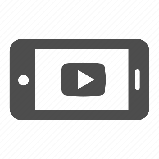film, iphone, movie, play, player, video, youtube icon