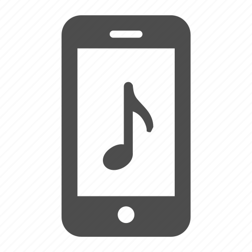 audio, mobile, music, note, phone, play, sound icon