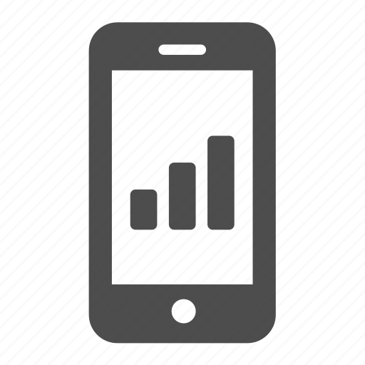 analytics, chart, graph, mobile, statistics icon