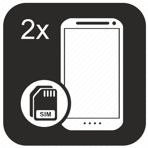 card, duo, mobile, phone, sim icon
