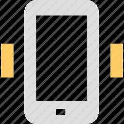 call, concussion, convulsion, mobile, pulsation, telephone, tremor icon