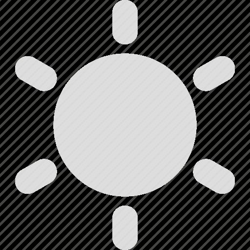 brightness, display, mobile, monitor, screen, sun icon