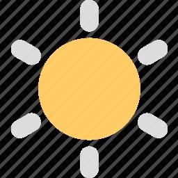 brightness, display, mobile, screen, sun, weather icon