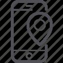 gps, location, mobile, phone, smartphone icon