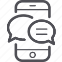 chat, message, mobile, phone, smartphone icon