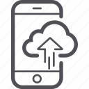 cloud, data, mobile, phone, smartphone icon