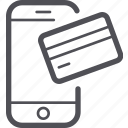 credit card, mobile, payment, phone, smartphone icon