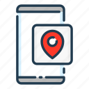 location, mobile, navigation, phone, pin, pointer, smartphone