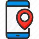location, mobile, phone, pin, pointer, service, smartphone