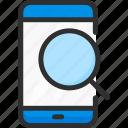 find, mobile, phone, search, service, smartphone icon