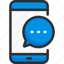 chat, message, mobile, phone, service, smartphone icon