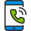 call, mobile, phone, ring, service, smartphone icon
