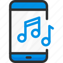 audio, mobile, music, phone, service, smartphone, song icon