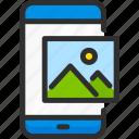image, mobile, phone, photo, picture, service, smartphone icon
