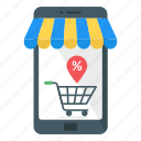 mobile store, mcommerce, shopping discount, eshopping, ecommerce icon