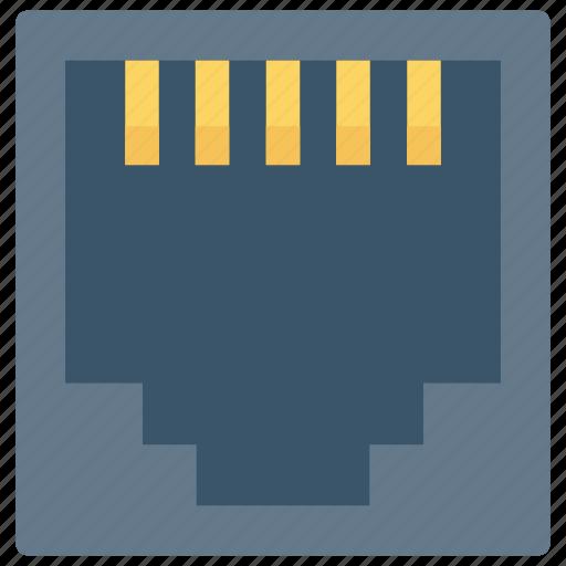 connection, internet, lan, port, usb icon