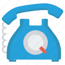 communication, landline, receiver, talk, telephone icon