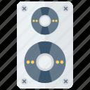 hardware, loud, music, speaker, woofer icon