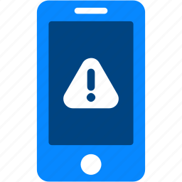 alert, attention, device, iphone, mobile, smartphone, warning icon