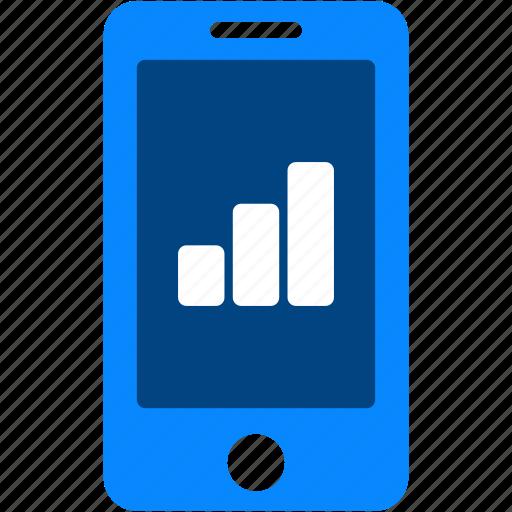 analytics, chart, iphone, mobile, phone, smartphone, statistics icon