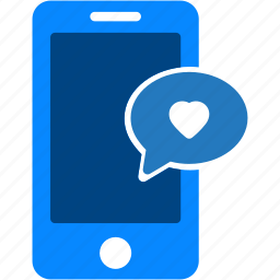 comment, favorites, heart, iphone, love, mobile, smartphone icon