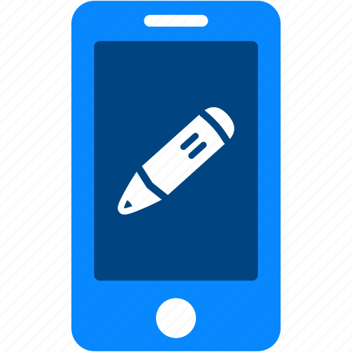 device, edit, iphone, mobile, pencil, smartphone, write icon