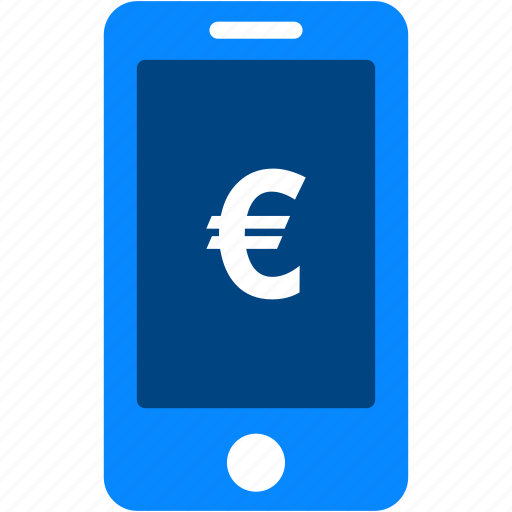 currency, euro, financial, iphone, mobile, money, smartphone icon