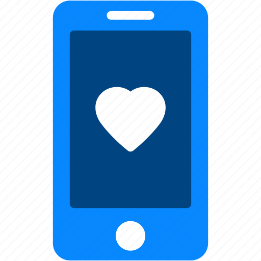 device, heart, iphone, love, mobile, smartphone, technology icon