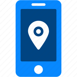 iphone, location, map, mobile, navigation, pin, smartphone icon