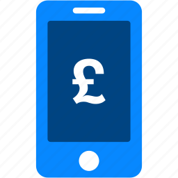 currency, finance, iphone, mobile, money, pound, smartphone icon