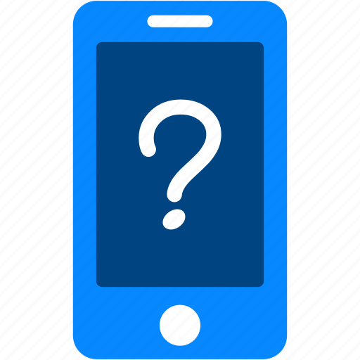 call, cell, iphone, mark, mobile, question, smartphone icon