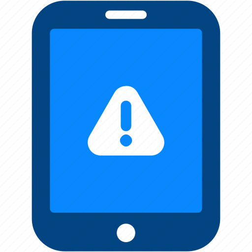 alert, attention, caution, error, sign, tablet, warning icon