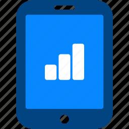 analytics, business, chart, report, seo, statistics, tablet icon