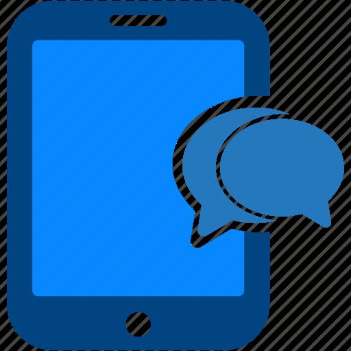 bubble, chat, communication, conversation, message, tablet, talk icon
