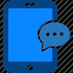 bubble, chat, comment, conversation, message, tablet, talk icon