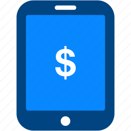 currency, dollar, finance, money, payment, shopping, tablet icon