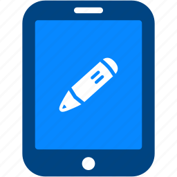 edit, ipad, pencil, tablet, write icon