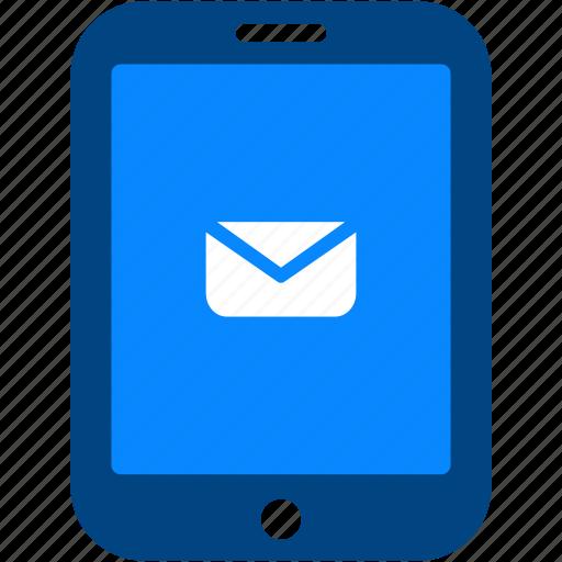 communication, email, envelope, letter, message, tablet, talk icon