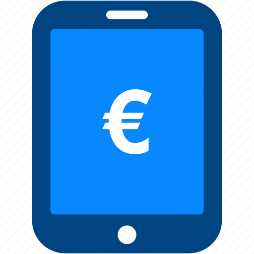 Euro, tablet, currency, financial, money, payment, shopping icon - Download on Iconfinder