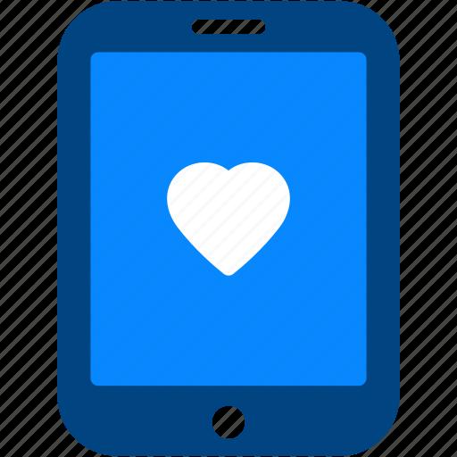 favorite, heart, ipad, like, love, tablet icon