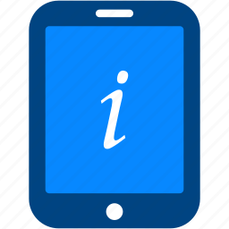 help, info, information, sign, support, tablet icon